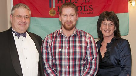 (L-R) Kevin Clarke, Nathan Cumberland in the middle and wife Judith Clarke on the right. Picture: As