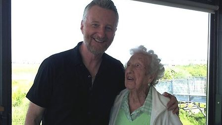 Billy Bragg and Grace Salter. Picture: Howard Vaughan