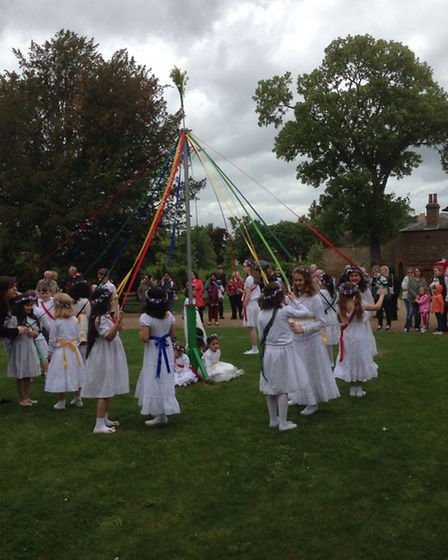 Maypole dancers at the May fair at Valentines Mansion. [Picture: Mike Gapes MP]