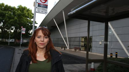 Lisa Pattenden is concerned about customers' safety at the Beckton Sainsbury's as the bus stop round