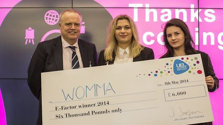 Sophie Newnes, director of WOMMA, picks up her �6,000 prize.