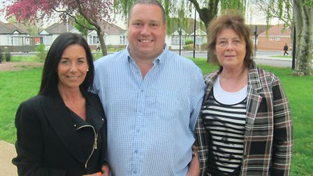Simon Hearn, Ruth Schechtman and Isobel Gould, who are running in Bridge ward for Ukip. [Picture: Si