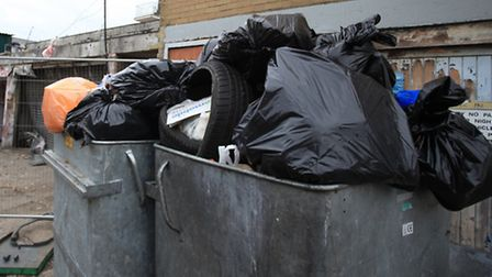 The bins are over-flowing and used for fly-tipping