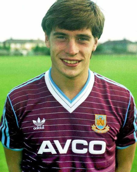 Tony Cottee pictured in 1986 in the Adidas shirt of the time (Picture by Steve Bacon)