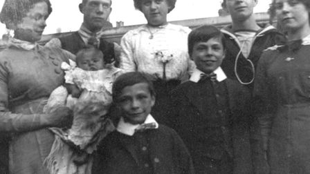 Fred and his family in Plaistow