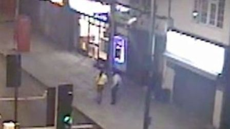 CCTV supplied by police of Mariana with her killer Farooq Shah, just moments before the fatal stabbi
