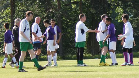 Charity football match between students and staff for Smiles With Grace. Picture: Chigwell School.