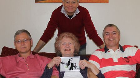 Maureen with sons David (back), Gary (left) and Trevor (right)