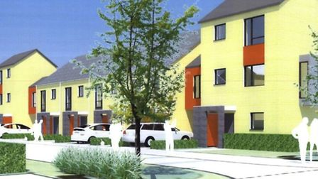 An artist's impression of what Chippenham Road, Harold Hill, will look like. Picture: London Borough
