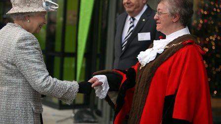 The Queen and The Duchess of Cornwall visited Barnardo's in Barkingside today. The Mayor of Red