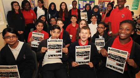 Students of Cumberland School at the screening of a special project with the Imperial War Museum cal