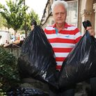 Robert Young is angry after receiving a threatening letter from the council about removing bags of h