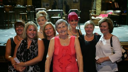 Lillian Cashman surrounded by her family at the Theatre Royal