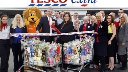 Tesco mark relaunch with charity donation
