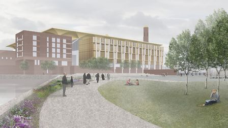 The proposed new Riverine Centre mosque development in West Ham. Picture courtesy of NRAP Architects