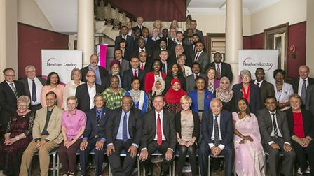 The Newham Mayor SIr Robin Wales with the borough's councillors