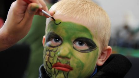 William Smith, 5, has his face painted at The Salvation Army fun day
