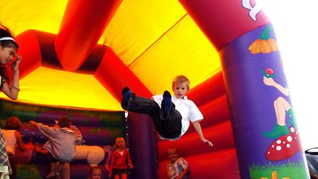 There will be a bouncy castle to entertain children on the day. Picture: PA/John Walton