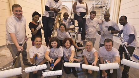 Staff from London City Airport have given up more than 300 hours of their time during Volunteers Wee