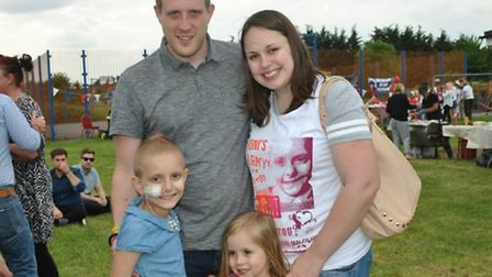 Joni-Mai, dad Kevin, mum Holly and sister Daisy. Picture: Rachel O'Rourke