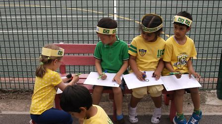 Children enjoying the Brazil day at Woodford Green Preparatory School. [Picture: Woodford Green Prep