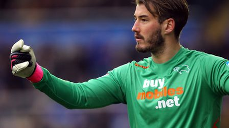 Former Derby County goalkeeper Adam Legzdins has joined Leyton Orient on a two-year deal (pic: Barri