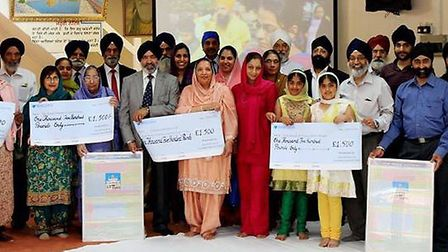 A total sum of £7,500 was raised by the riders, sponsors, local businesses and Gurdwaras.