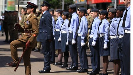 The Armed Forces Day parade in Ilford