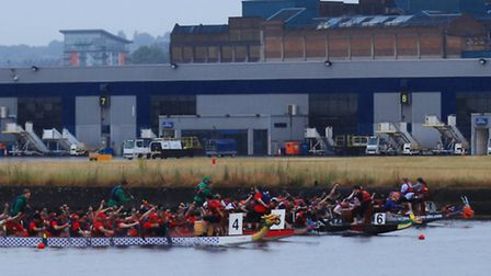 The Dragon Boat Race at the Docklands.
