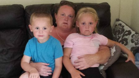 Sue Kennedy with her children 5-year-old Lily Rose and three-year-old Alfie