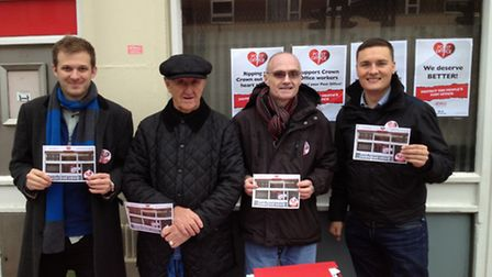 From L to R: Campaigners John Howard, Colin Coughlin, Ian Hardwick, and Cllr Wes Streeting.