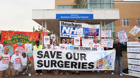 Save Our Sugeries campaigners fear for permanents cuts in the bowel surgery at Newham University Hos