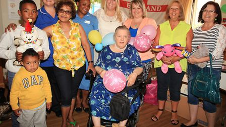 Residents and staff celebrate at their summer fete
