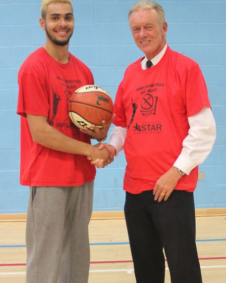 Police commissioner Sir Bernard Hogan-Howe met Carry A Basketball Not A Blade project creator Anthon