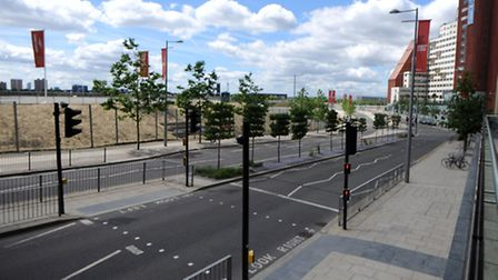 One of the best places to watch the Tour de France in Newham is behind Westfield Stratford City, ove