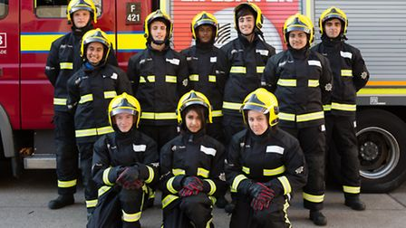 London Fire Brigade Cadets passing out at Ilford fire station.