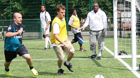 Service users at one of the Waltham Forest sessions. [Picture: London Playing Fields Foundation]