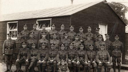 The soldiers at Grey Towers in summer 1915. Atheling Miller is in the middle row's centre. [Picture: