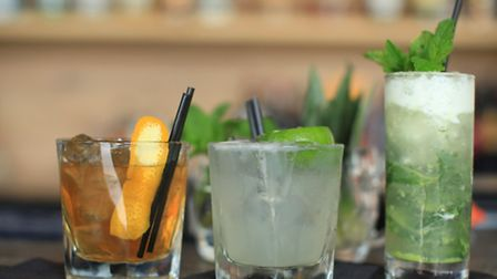 Three of the cocktails available at the Print House