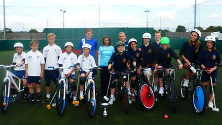 Bike polo winners. Picture: London Borough of Havering