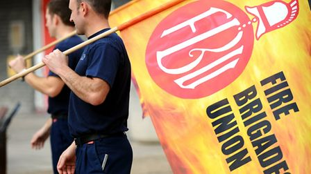 Firefighters striking earlier this year