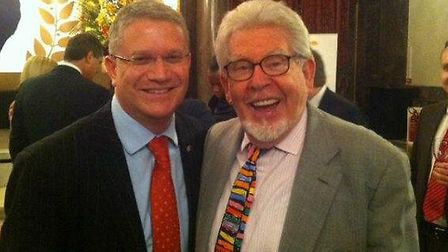 Andrew Rosindell MP and Rolf Harris posted on Facebook October 2012. Picture: Facebook