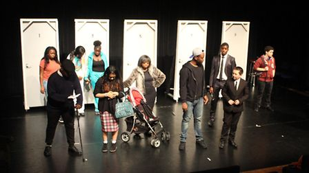 Some of the Think Big cast in action on stage