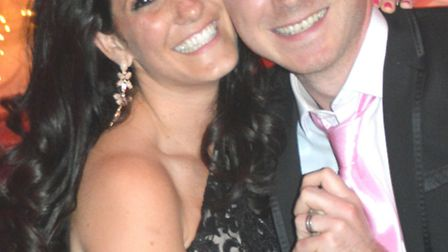 Katie Worth and her husband Ryan at the charity ball, which raised more than £40,000. [Picture: Kati