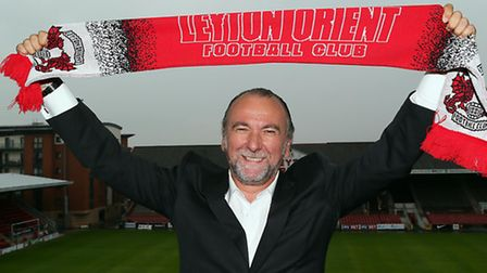 New Leyton Orient owner Francesco Becchetti at his unveiling at Brisbane Road on Thursday. Pic: Simo
