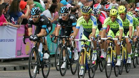 Tour de France cyclists make their way down High Road Woodford Green (Picture: Paul Bennett)