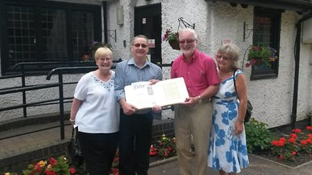 Members of Almaston Lodge, who donated money to Haven House Children's Hospice under its Pay for a D