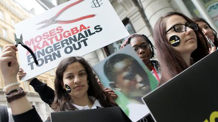 Students from Eastlea Community School took their protests to the doors of several embassies in Lond