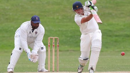 Chris Cook in batting action for Ardleigh Green against Hainault & Clayhall (pic: Gavin Ellis/TGSPHO
