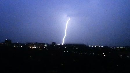 Vicki Rowlands took this photo of the lightning